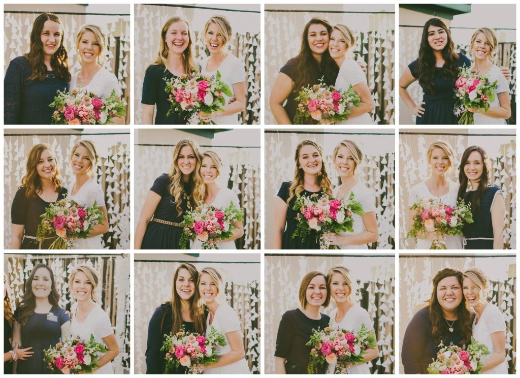 bridesmaid collage